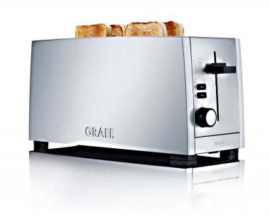 Graef TO100 - Toaster, 2-fach, lang, Silber