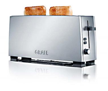 Graef TO90 - Toaster, 1-fach, lang, Silber