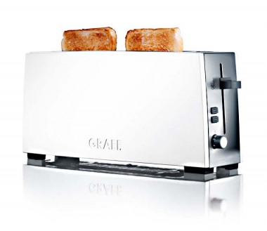 Graef TO91 - Toaster, 1-fach, lang, Weiß