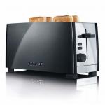 Graef TO102 - Toaster, 2-fach, lang, Schwarz