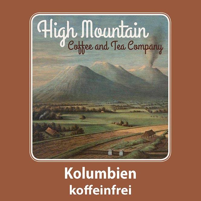 High Mountain Coffee Kolumbien Koffeinfrei 500g